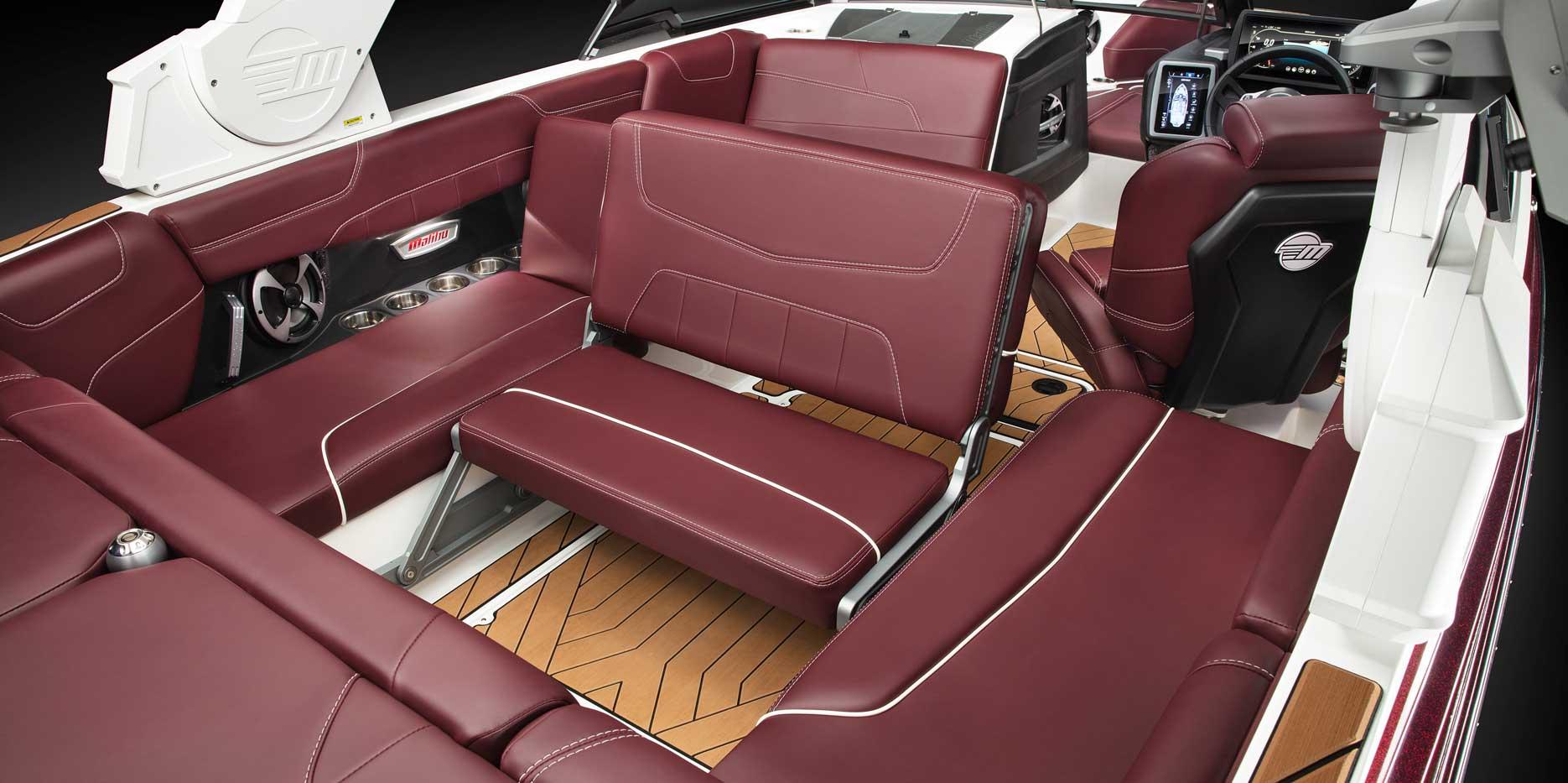 Malibu Boats 22 LSV Wake View Bench Seat.