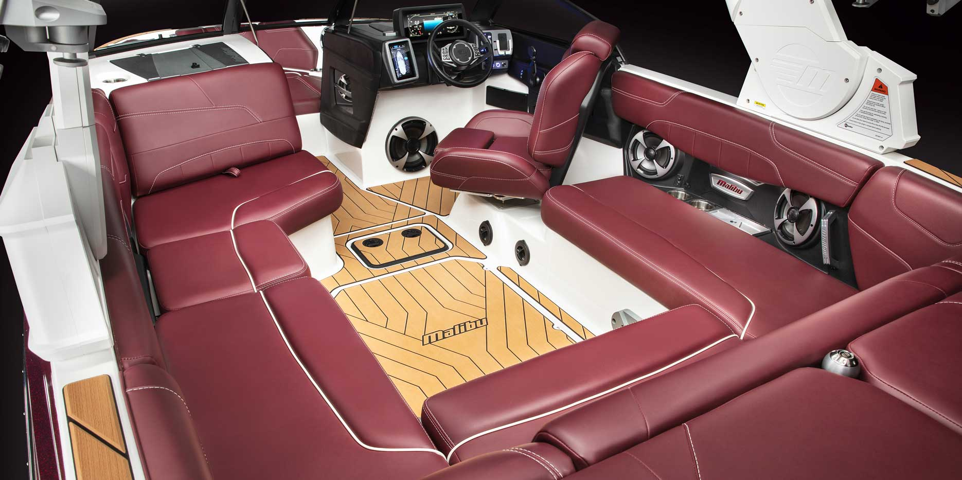 Custom Malibu soft grip styling inside of the 22 LSV.
