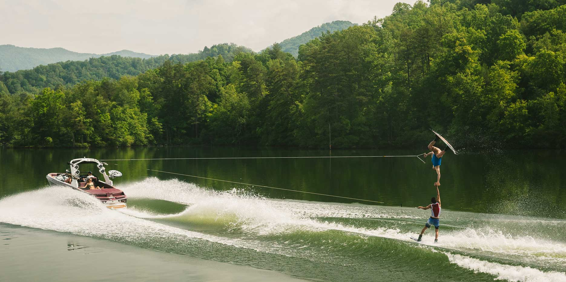 The ultimate playground for doubles wakeboarding.