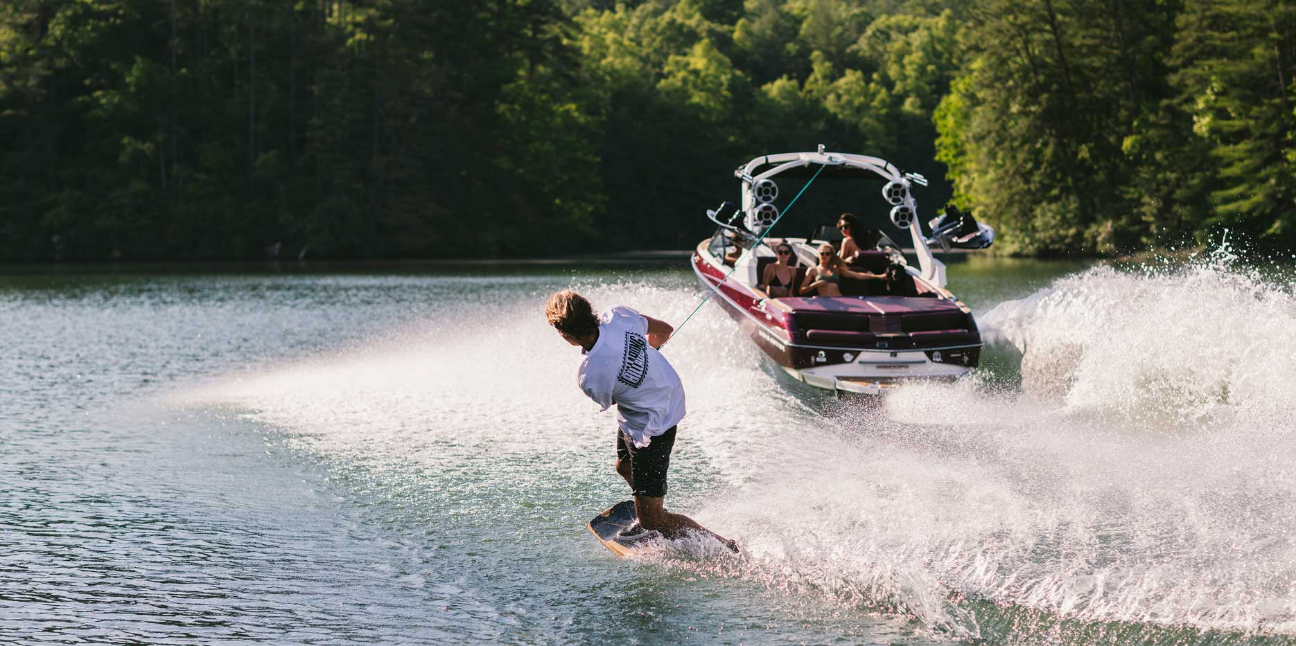 Watersports couldn't get more fun than setting up on the ultimate playground behind the 22 LSV.