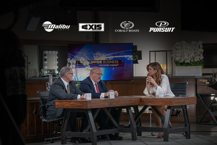 Malibu Boats is featured on Worldwide Business with Kathy Ireland for industry leading wakeboarding, wakesurfing, and water skiing.