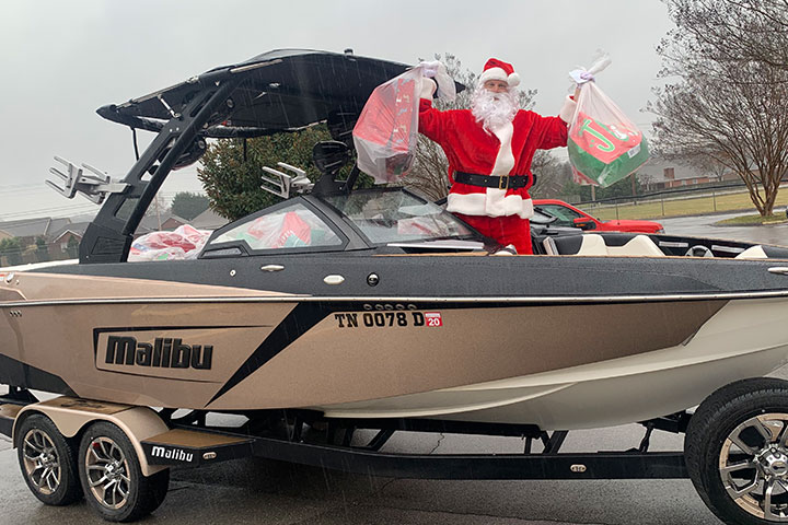 Malibu Boats Delivers Toys For Tots