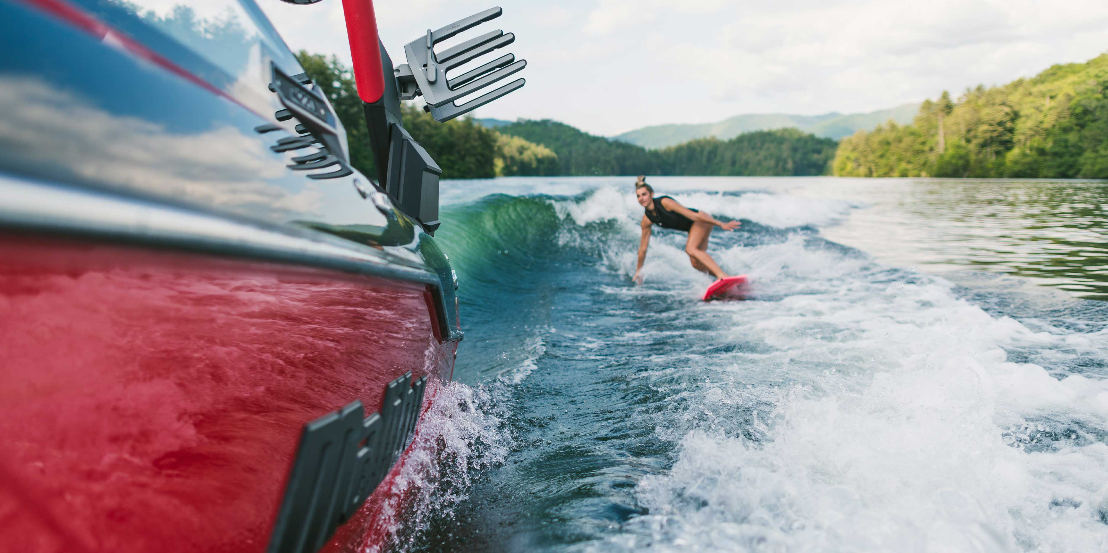 The 2021 Malibu Boats All-New M220 Wakesurfing
