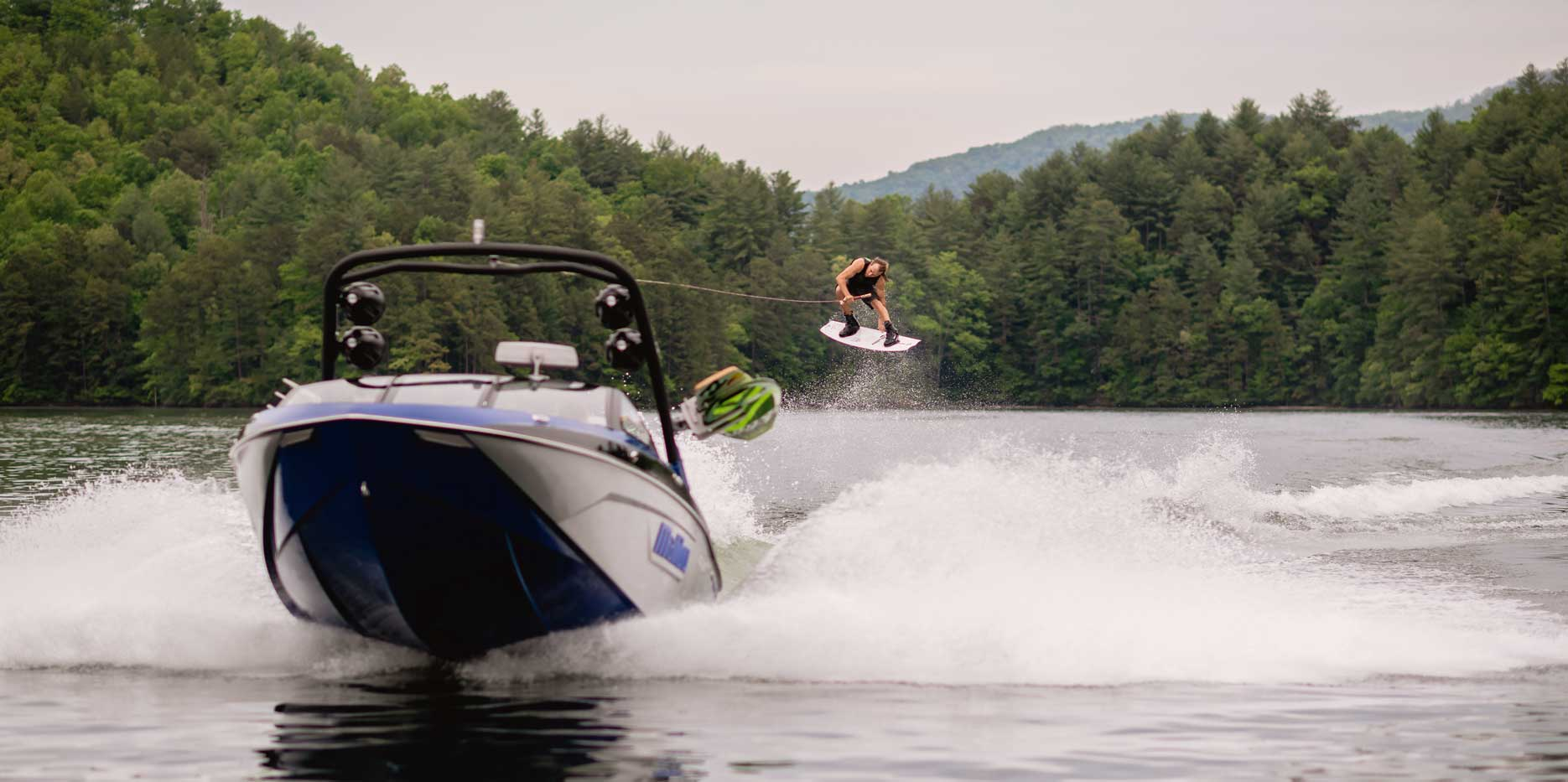 Wakeboarding action on the 23 LSV