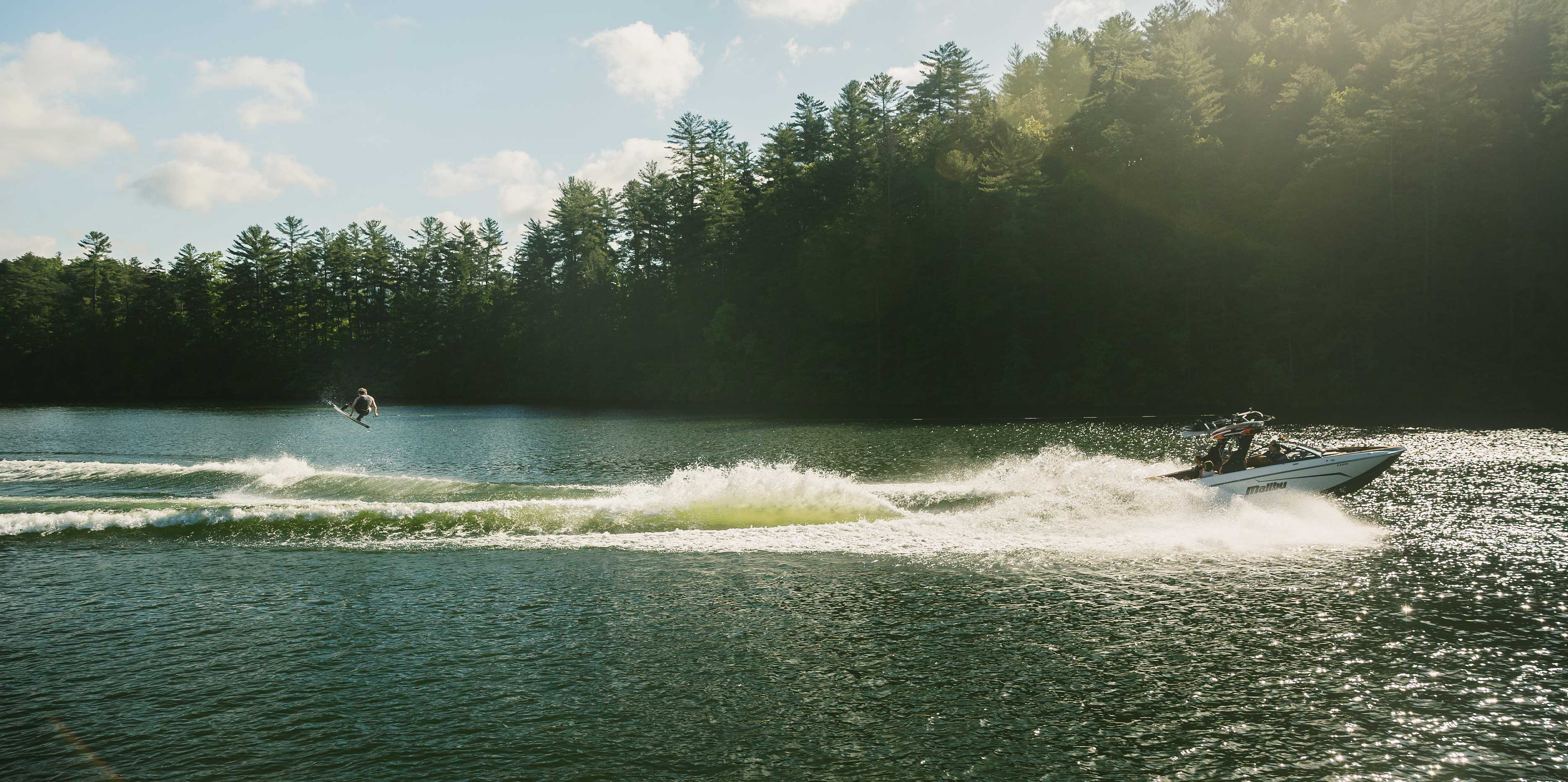 Wakeboarding behind the 25 LSV