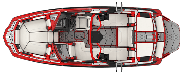 2021 Malibu Boats M240 Overhead, Top View