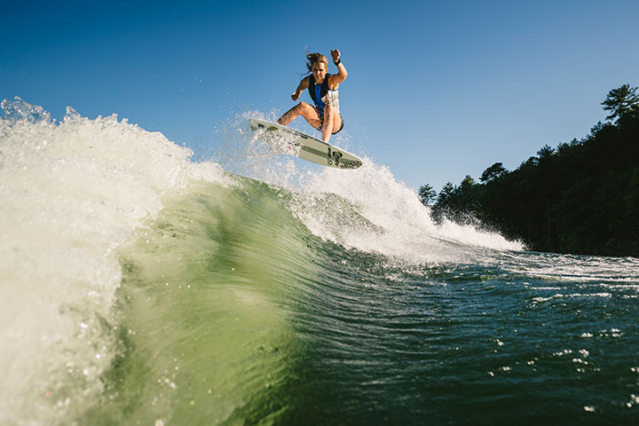 How to Wakesurf Transfer Behind your Malibu Boat with Stacia Bank