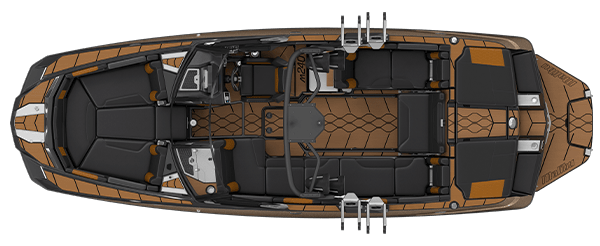 2021 Malibu Boats M240 Overhead, Top View