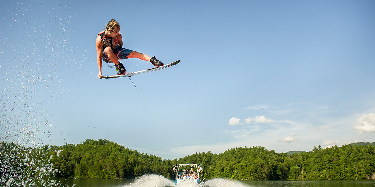 Malibu Boats Wakeboarder, Jeff Langley